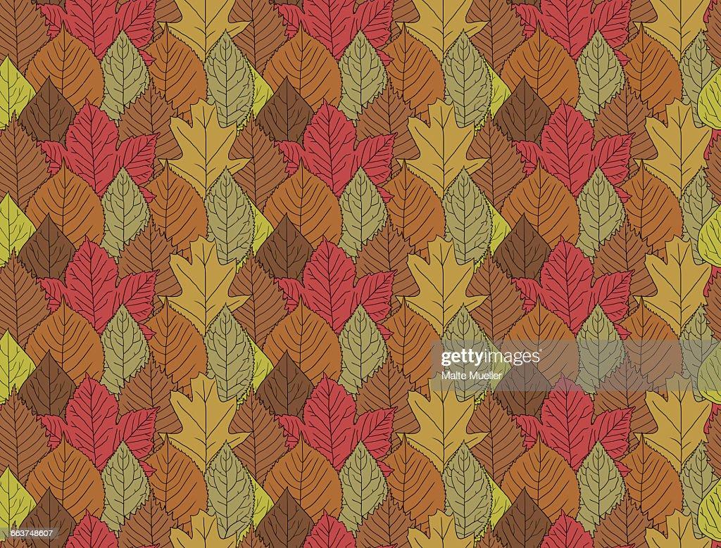 Full frame shot of autumn leaves : Stock Illustration