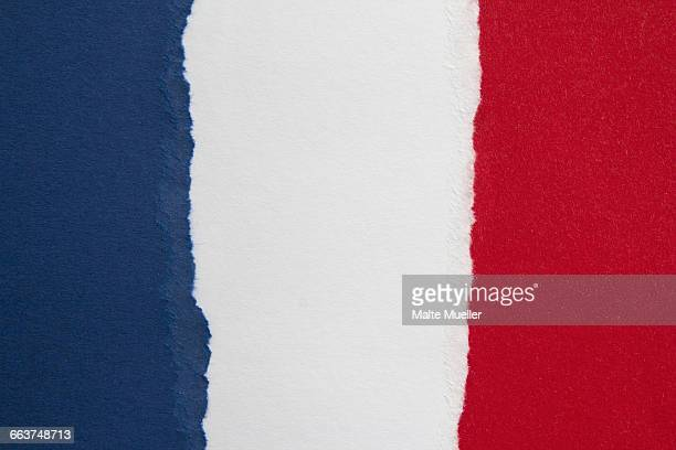 full frame shot of french flag - french culture stock illustrations