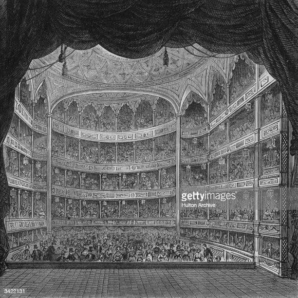 Full house inside Drury Lane Theatre, London.