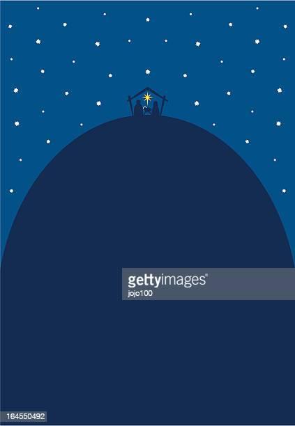 Fun Nativity Silhouette Scene Invite or Poster