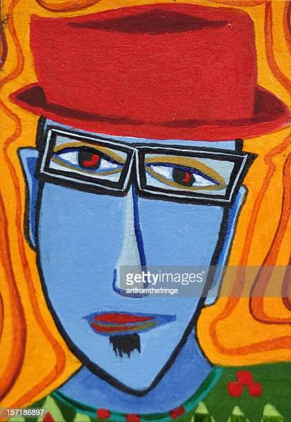 ilustraciones, imágenes clip art, dibujos animados e iconos de stock de chico de jazz funky - producto artístico