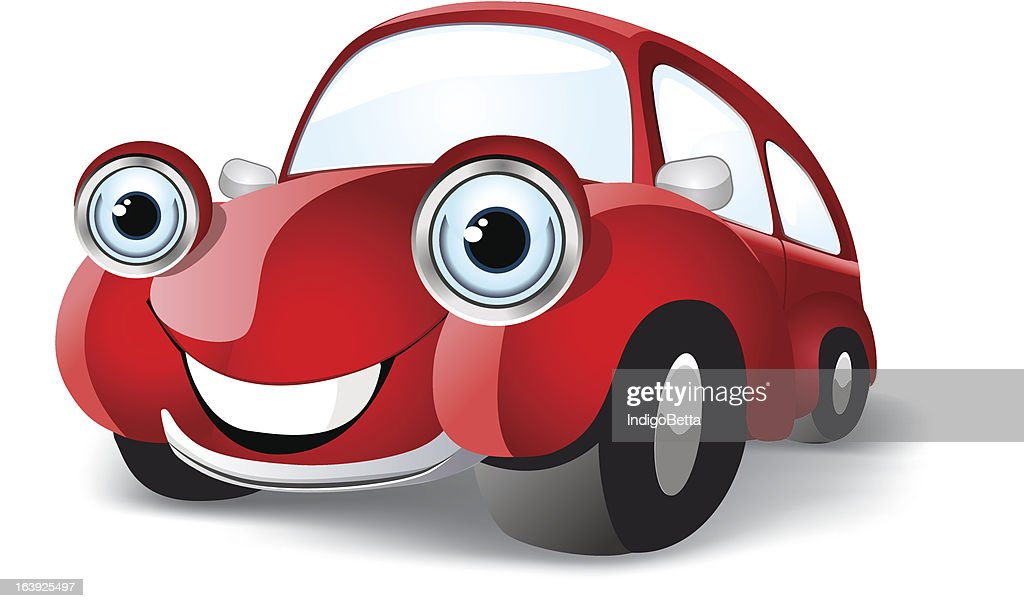 Funny red car