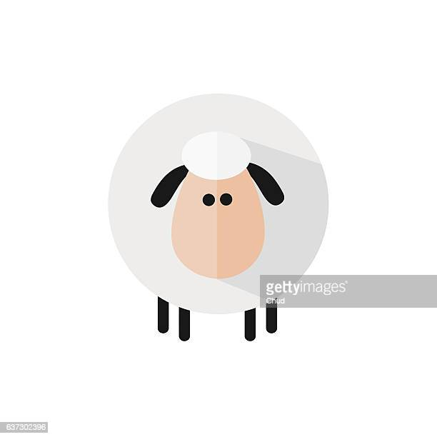 funny sheep - sheep stock illustrations, clip art, cartoons, & icons