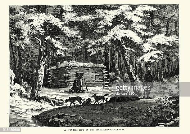 Fur trappers, Saskatchewan, Canada, 19th Century