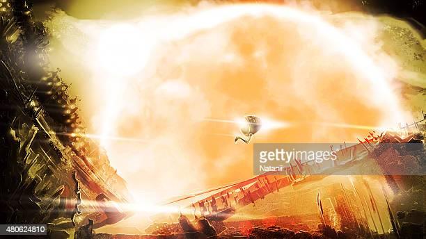 furious sun - solar flare stock illustrations, clip art, cartoons, & icons