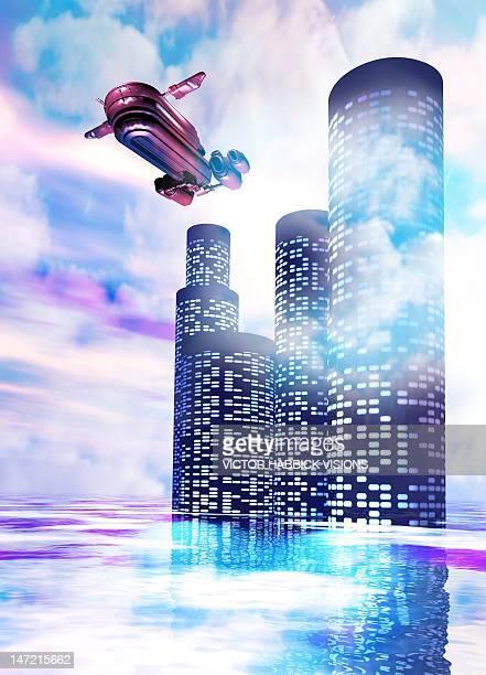 Future of travel, conceptual artwork