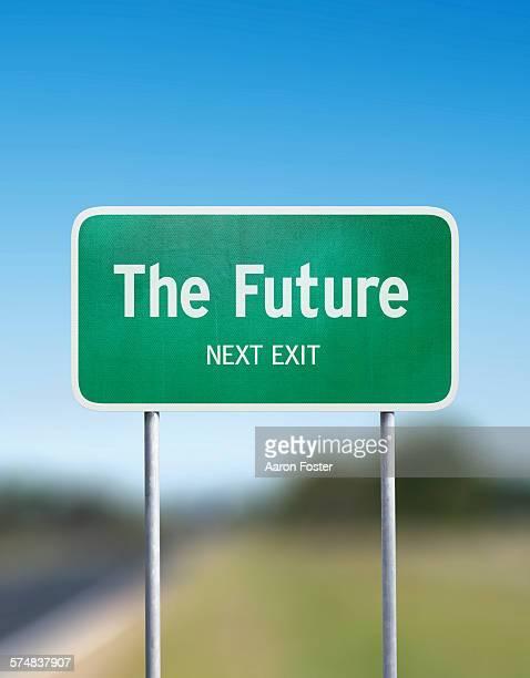 future sign - road stock illustrations