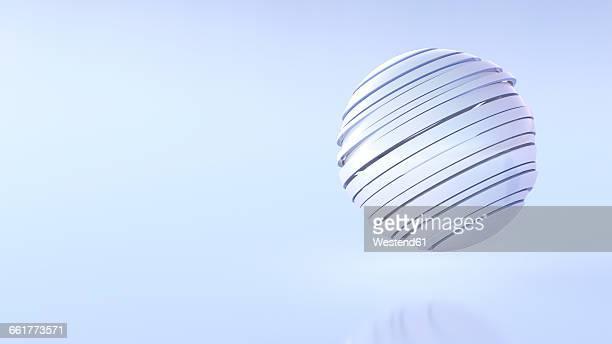 Futuristic ball, 3D Rendering