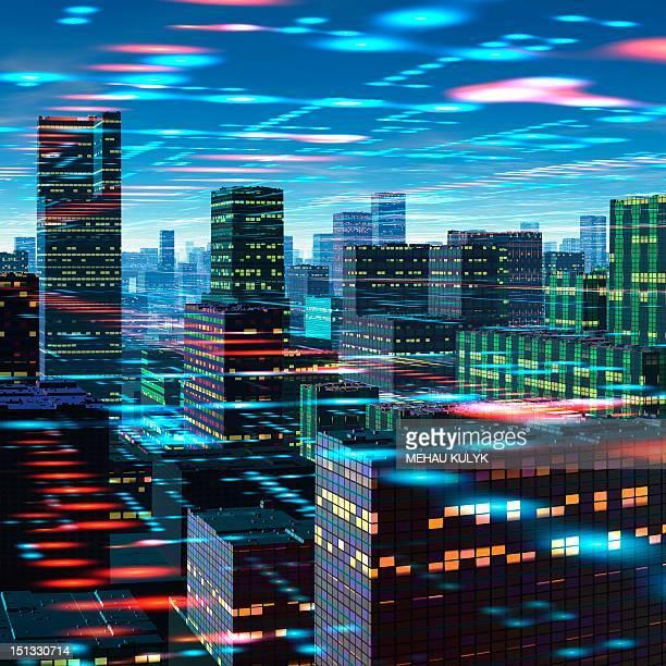 Futuristic city, conceptual artwork