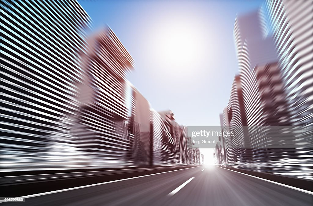 Futuristic cityscape : Stock Illustration