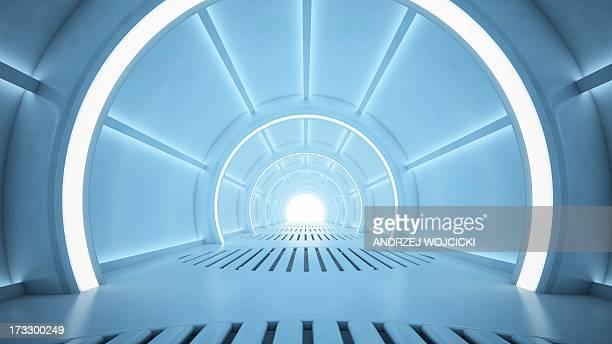 Futuristic corridor, artwork