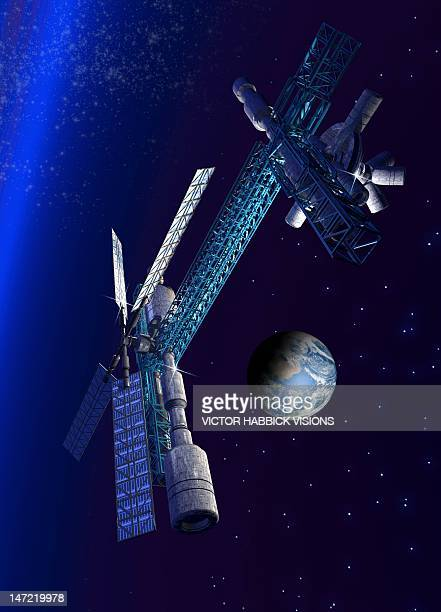Futuristic space station, artwork
