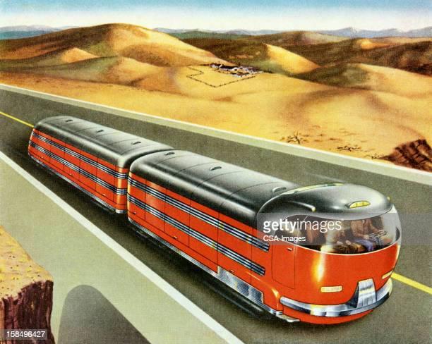 Futuristic Train Truck