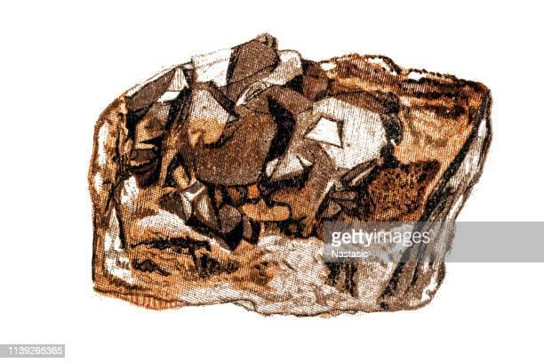 bildbanksillustrationer, clip art samt tecknat material och ikoner med galena (blyblick), mineral sten - mineral