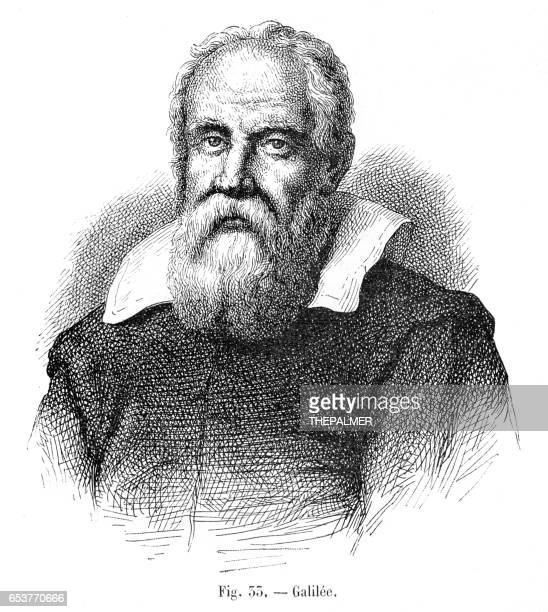 galileo galilei  engraving 1881 - physicist stock illustrations, clip art, cartoons, & icons