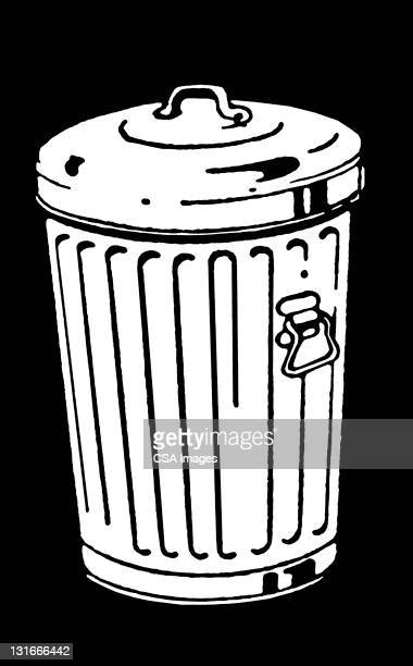 garbage can - vertical stock illustrations