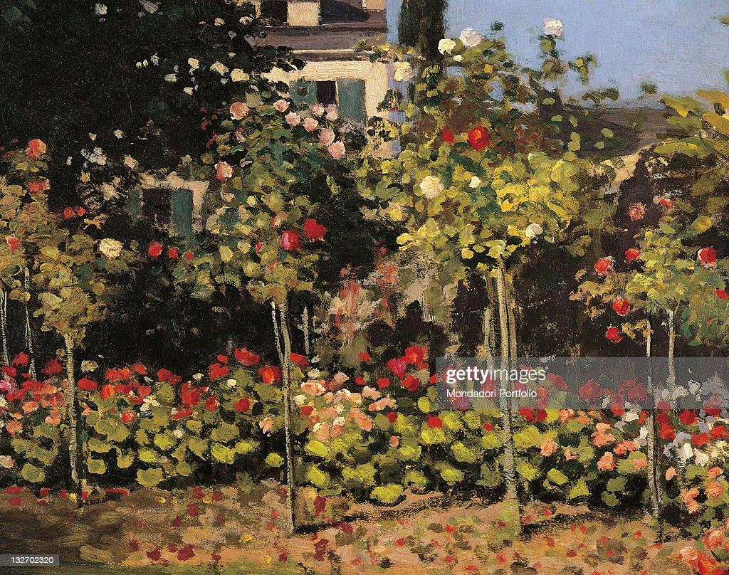Garden At Sainte Adresse By Claude Monet 1866 19th Century Oil On ...