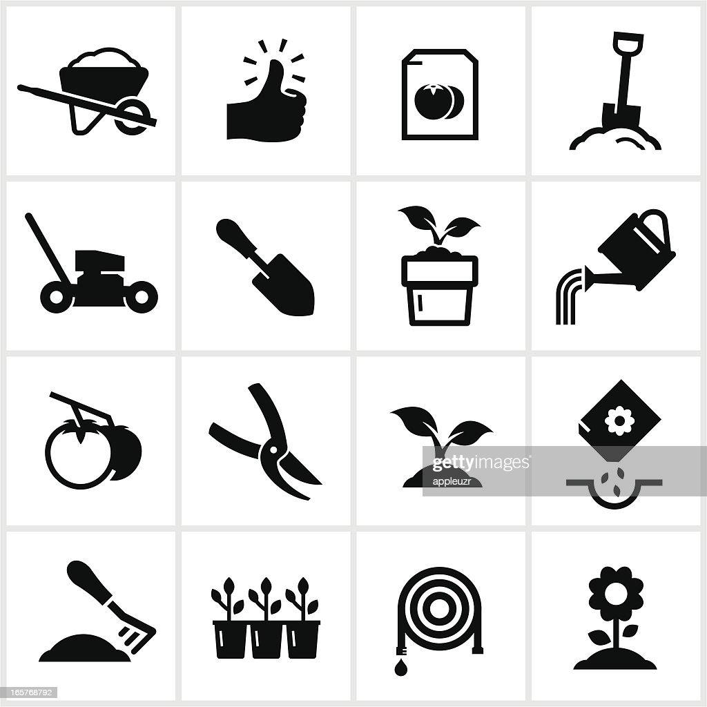 Gardening and Planting Icons : stock illustration