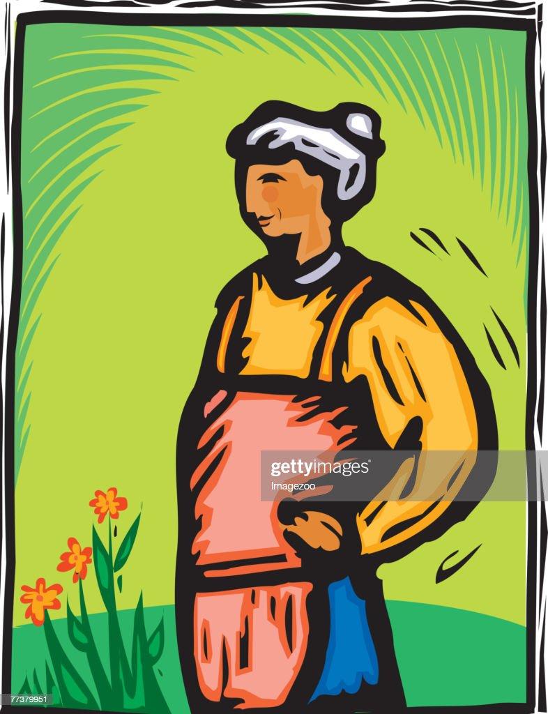 gardening : Stock Illustration