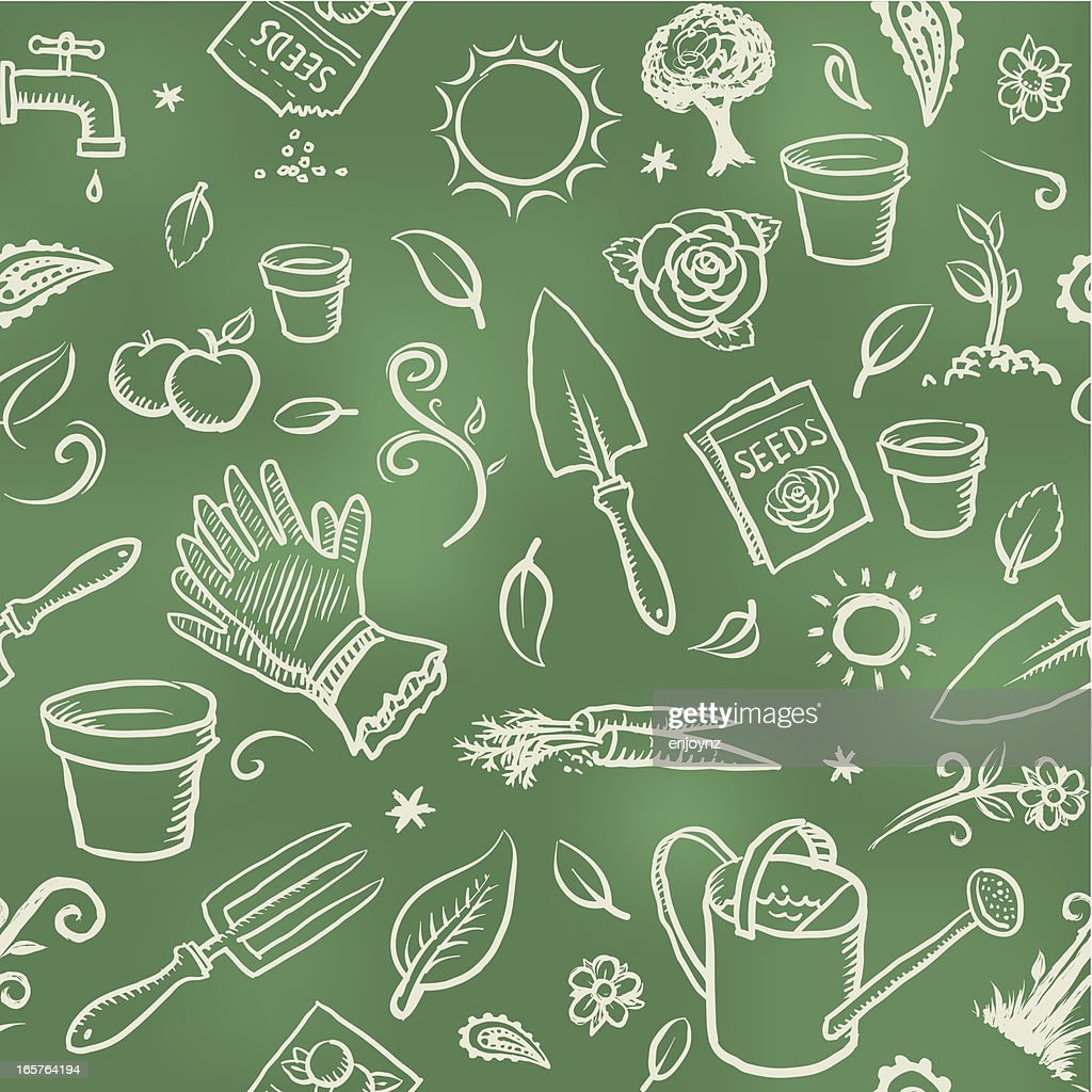Gardening wallpaper background : stock illustration