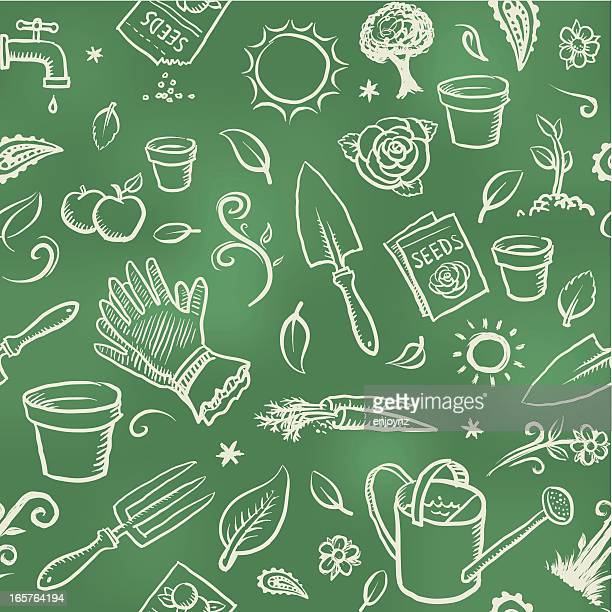 gardening wallpaper background - gardening stock illustrations