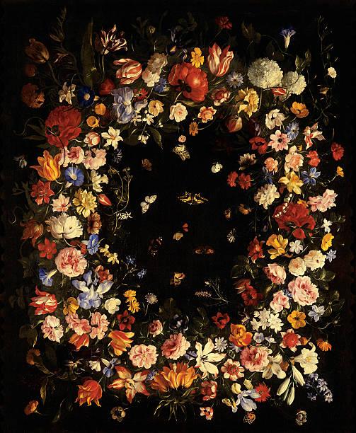 Garland of Flowers (Still Life), by Cittadini Pier Francesco, 17th Century, oil on canvas