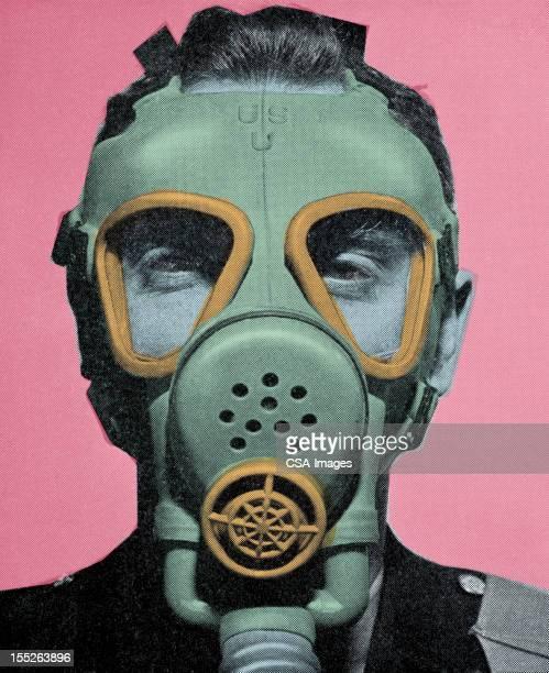 ilustraciones, imágenes clip art, dibujos animados e iconos de stock de máscara de gas - arma biológica