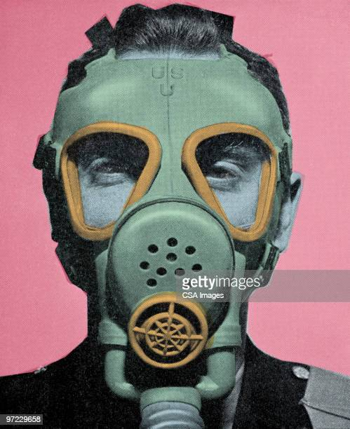 gas mask - protective workwear stock illustrations, clip art, cartoons, & icons