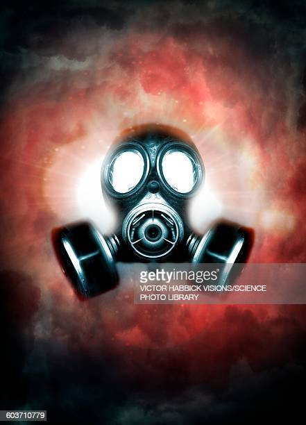 gas mask, illustration - war stock illustrations