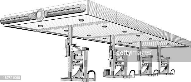 Tankstelle Pumpen