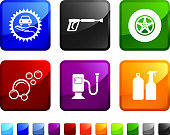 Gas Station royalty free vector icon set