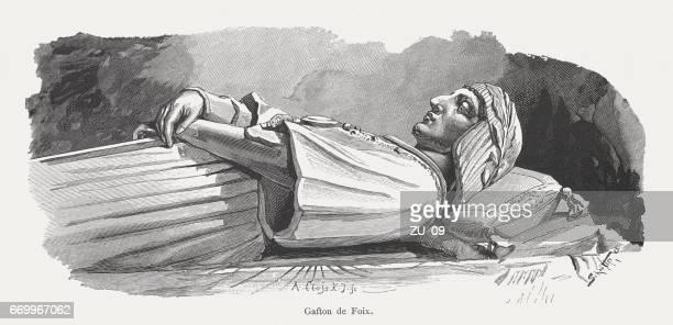gaston de foix (1489-1512), french commander, sforza castle, milan, italy - grave stock illustrations, clip art, cartoons, & icons