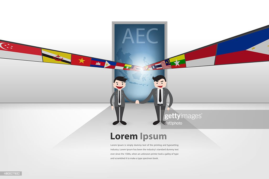 Gateway to aec (partnership theme) : Stock Illustration