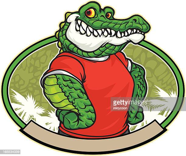 gator dude - alligator stock illustrations, clip art, cartoons, & icons