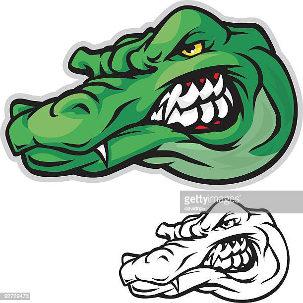 gator head - alligator stock illustrations, clip art, cartoons, & icons