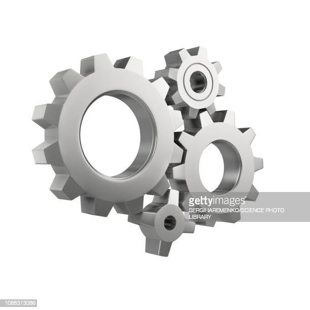gear wheels, illustration - zahnrad stock-grafiken, -clipart, -cartoons und -symbole
