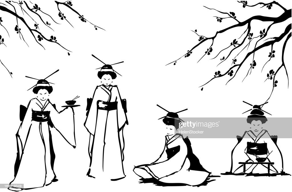 Geisha and sakura.