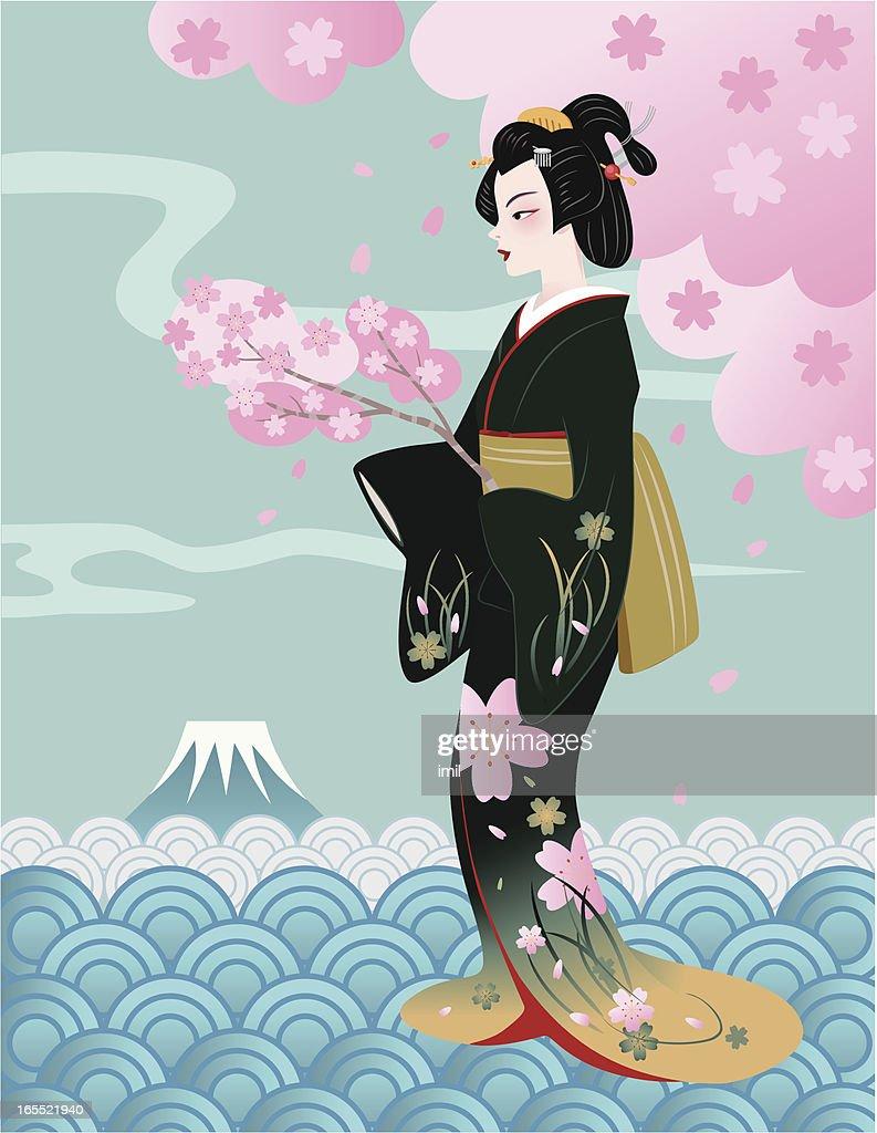 geisha-cherry blossoms