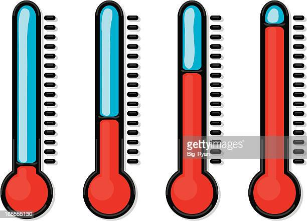 gel thermometers - fahrenheit stock illustrations