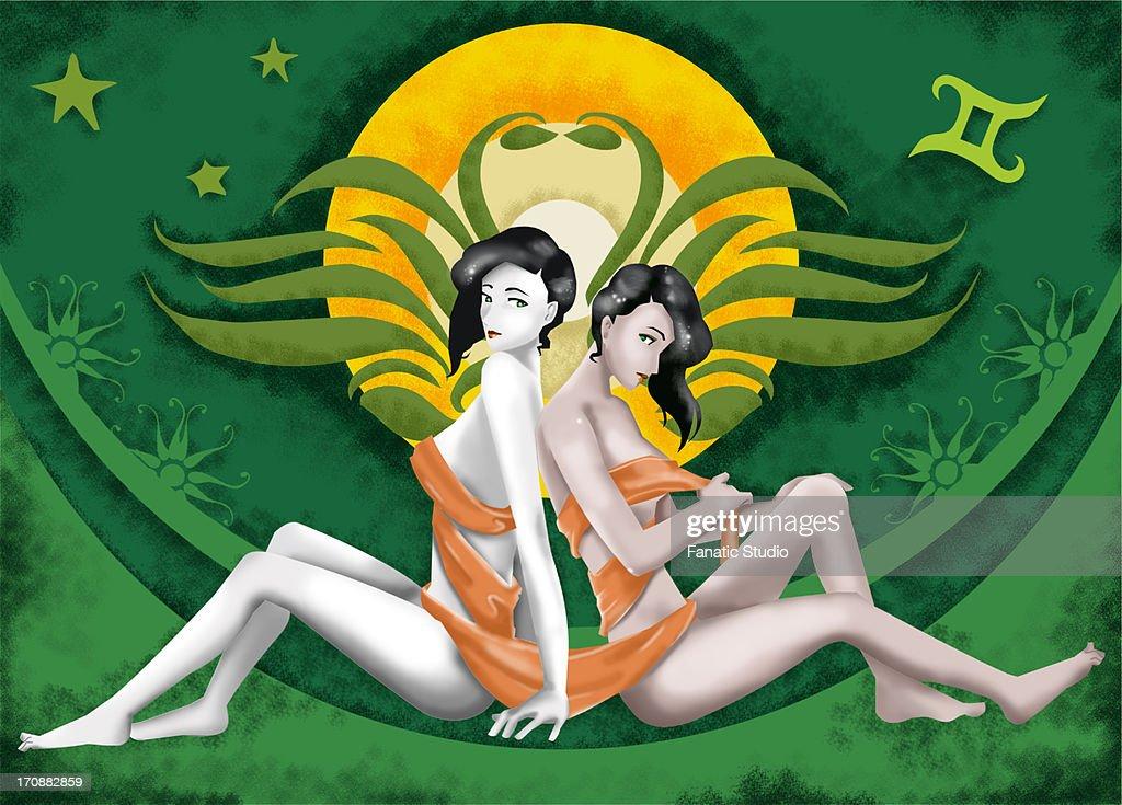 Gemini zodiac sign : Stock Illustration
