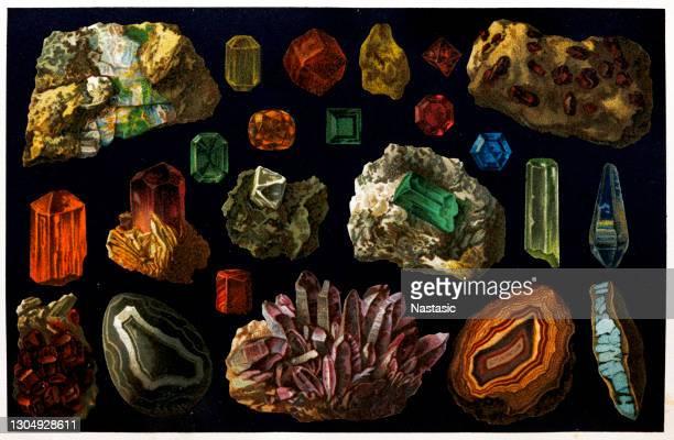 宝石 - 孔雀石点のイラスト素材/クリップアート素材/マンガ素材/アイコン素材