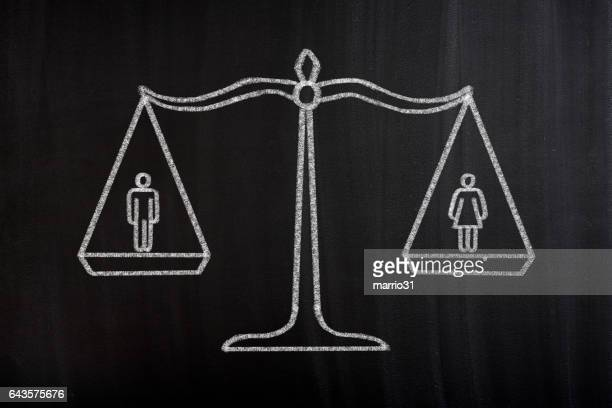 gender equality scale concept - human rights stock illustrations
