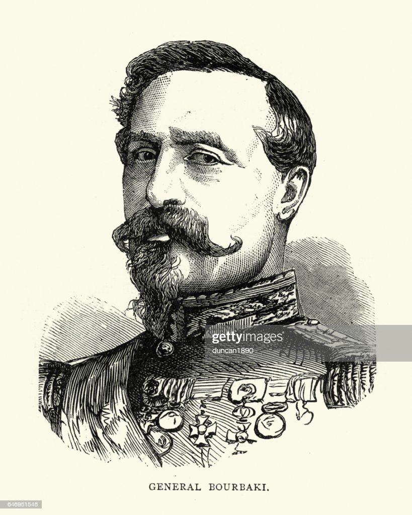 General Charles-Denis Bourbaki : stock illustration
