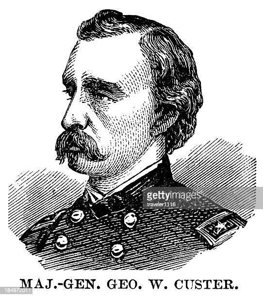 general custer - general stock-grafiken, -clipart, -cartoons und -symbole