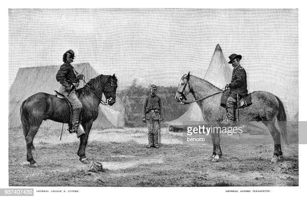 General George Armstrong Custer and General Alfred Pleasonton