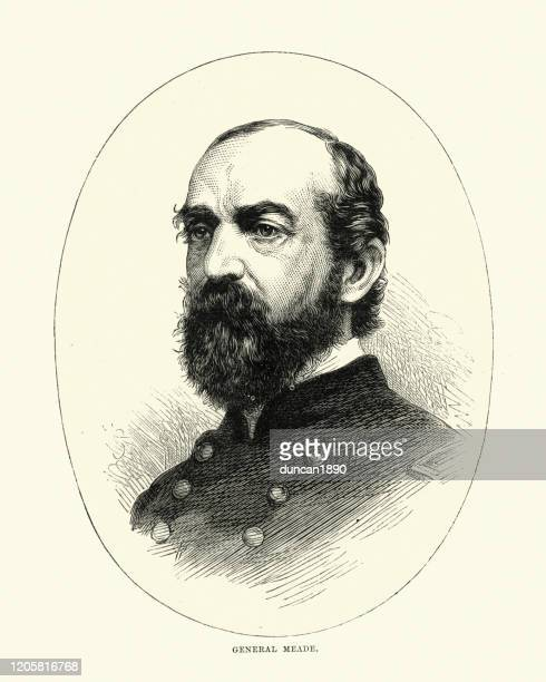 general george meade, united states army officer - general military rank stock illustrations