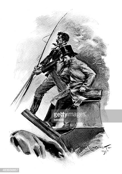 general grant holding on - ulysses s grant stock illustrations