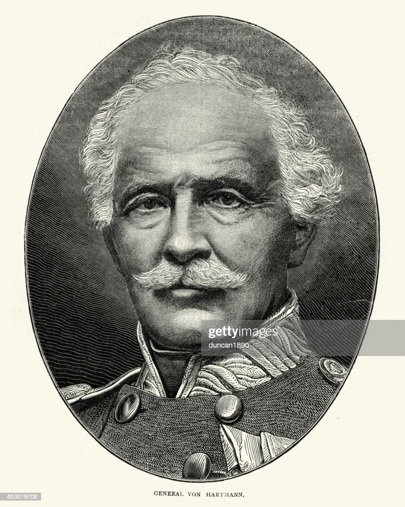 General Jakob von Hartmann : stock illustration
