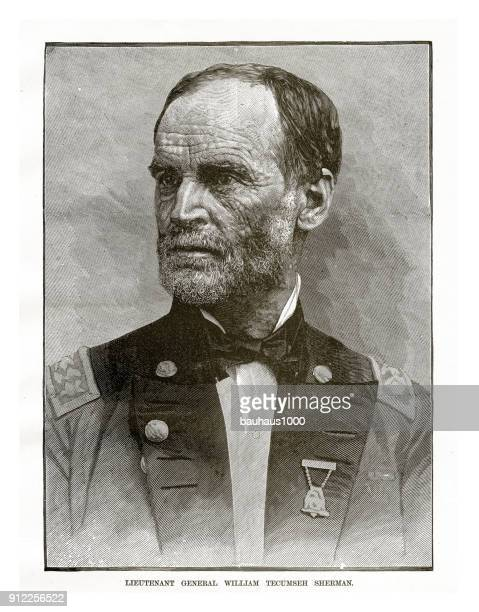 general james shields civil war engraving - us military stock illustrations, clip art, cartoons, & icons