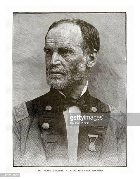 general james shields civil war engraving - us military stock illustrations, clip art, cartoons, & icons